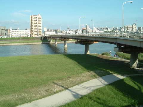 晴れの河川敷