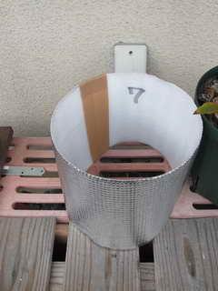 アルミシートの鉢カバー