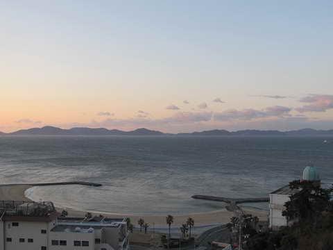 西浦温泉富士見荘より望む